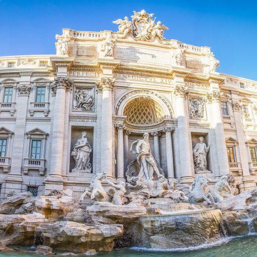 מזרקת טרווי רומא איטליה